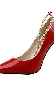 Chaussures Femme-Bureau & Travail / Décontracté-Noir / Violet / Rouge / Blanc / Gris-Talon Aiguille-Talons / A Plateau / Bout Pointu /