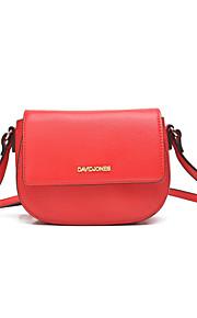 DAVIDJONES/Women PU / leatherette Saddle Shoulder Bag / Satchel / Cross Body Bag-Black/ Beige/More Color