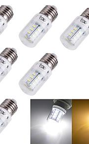 3W E14 / E26/E27 Ampoules Maïs LED T 24 SMD 5730 175 lm Blanc Chaud / Blanc Froid Décorative AC 100-240 / AC 110-130 V 6 pièces