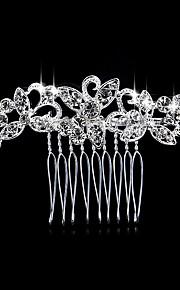 Mulheres Pérola / Strass / Crostal / Liga Capacete-Casamento / Ocasião Especial / Casual Pentes de Cabelo 1 Peça Branco Redonde 7*7cm