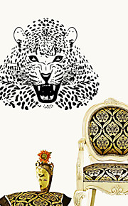 Animals Ferocious Leopard Wall Stickers  Still Life / 3D Wall Stickers Plane Wall Stickers,vinyl 57*50cm