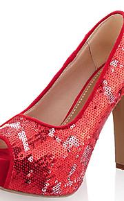 Chaussures de mariage-Noir / Bleu / Rouge-Mariage / Soirée & Evénement-Talons / Bout Ouvert-Sandales / Talons-Homme