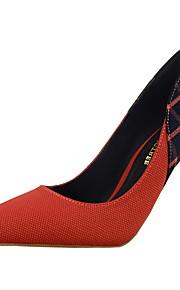 Chaussures Femme-Bureau & Travail / Décontracté-Noir / Bleu / Rouge / Orange-Talon Aiguille-Talons / Bout Pointu / Bout Fermé-Talons-Coton