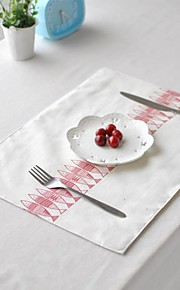 "4 stuks placemats pakken Japanse vis patroon katoen wasbaar mode patroon 11.8 ""met 12,6"""