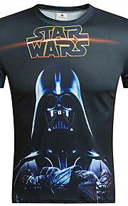 Menn Kortermet T-skjorte Polyester Fritid Trykk / Camouflage