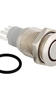 12v wit led metal switch drukknop vergrendeling kortstondige 16mm