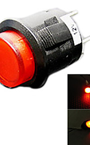 jtron auto schakelaar met led rood / blauw licht - (12v)