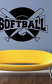 Diy Stickers Softball Pattern Vinilos Paredes Wall Stickers For Kids Rooms Decoration Wall Decals