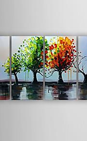 oljemaleri inntrykk landskaps store trær sett med 4 håndmalt lerret med strukket innrammet klar til å henge