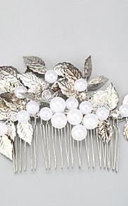 Dame / Blomsterpige Legering / Imitert Perle Headpiece Bryllup / Spesiell Leilighet Hårkammer Bryllup / Spesiell Leilighet 1 Deler