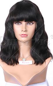 """sin procesar de 8 """"-16"""" pelucas del frente del cordón del pelo humano peluca llena del cordón virginal brasileño del color natural de la"""
