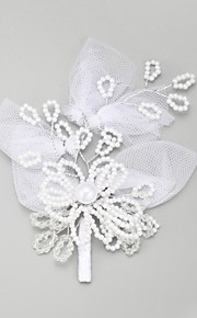 Women's / Flower Girl's Lace / Alloy / Imitation Pearl Headpiece-Wedding / Special Occasion Hair Pin 1 Piece