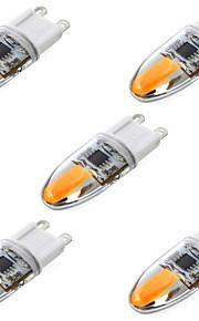 LED à Double Broches Gradable / Décorative Blanc Chaud / Blanc Froid YWXLIGHT 5 pièces T G9 6W 2 COB 600 lm AC 100-240 V