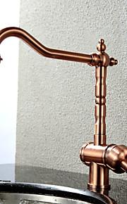 Integroitu Yksi kahva yksi reikä with Antiikkikupari Kitchen Faucet