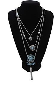 Multilayer Indian Retro Hot Sale Designer Jewelry Summer Style Sunflower Pendants Necklaces