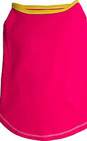 Koirat T-paita Punainen / Sininen / Ruusunpunainen Kesä Yhtenäinen Muoti-Pething®
