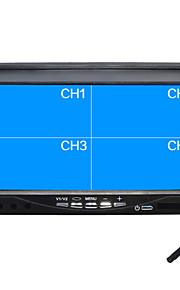 7 inch full hd quad-TFT-LCD auto achteruitkijkspiegel-monitor met u staan omgekeerde back-up camera van hoge kwaliteit