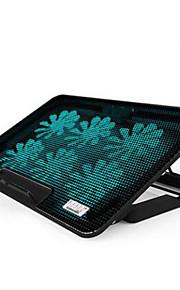 seks fans ergonomisk justerbar køler køling pad med stativ holder pc laptop notebook