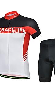 miesten kesän ammatillisen pyöräily musta paita polkupyörä hengittävä kuivuu nopeasti jersey + pyörä 3d tyyny pad shortsit puku