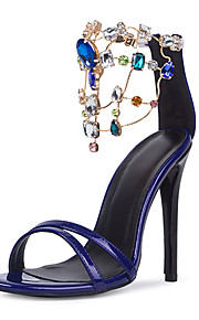 Chaussures Femme-Mariage / Habillé / Soirée & Evénement-Violet-Talon Aiguille-Talons / Bout Ouvert-Sandales-PU