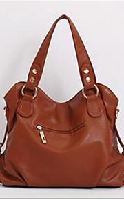Women PU Sling Bag Shoulder Bag-Brown