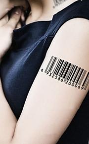 Fashion Temporary Tattoos Sexy Body Art Waterproof Tattoo Stickers Barcode 5PCS