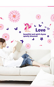4 Coloe Removable Bedroom Flower Wall Stickers PVC Wall Decals 60*45*0.1