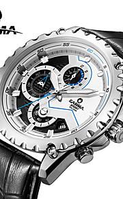 CASIMA Luxury Brand Watches Men's Fashion Sport Quartz Wrist Watch Chronograph Stainless Steel Waterproof 100M #8203-SL8