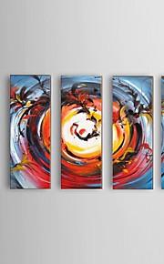 käsinmaalattu abstrakti Phoenix öljymaalaus ravintola 5 kpl / setti seinälle sisustus venytetty runko