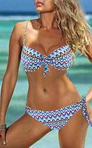 De las mujeres Bikini-MonocolorHalter-Nailon / Espándex