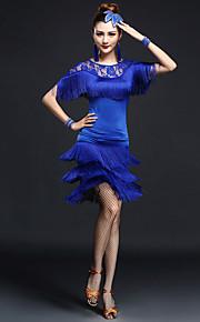 Latin Dance Outfits Women's Fashion Performance Chinlon / Nylon Lace / Tassel(s) Dance Costumes