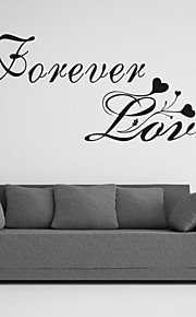 AYA™ DIY Wall Stickers Wall Decals, Forever Love English Words & Quotes PVC Wall Stickers