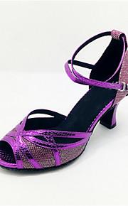 Sapatos de Dança(Roxo) -Feminino-Personalizável-Latina