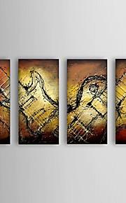Hånd-malede Abstrakt Moderne / Europæisk Stil,Fem Paneler Hang-Painted Oliemaleri