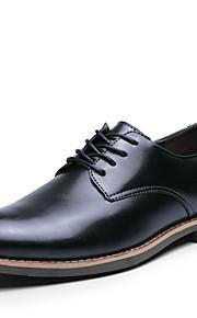 Chaussures Hommes Mariage / Bureau & Travail / Décontracté / Soirée & Evénement Noir / Marron Cuir Richelieu