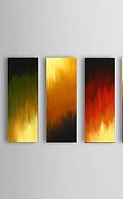 käsinmaalattu abstrakti liekki öljymaalaus ravintola 5 kpl / setti seinälle sisustus venytetty runko