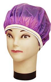 순수한 색상 방수 샴푸 여성 패션 새틴 샤워 캡 목욕 머리