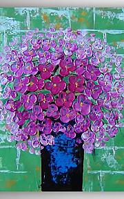 Peint à la main A fleurs/Botanique Modern,Un Panneau Peinture à l'huile Hang-peint