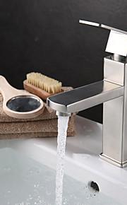 Moderne Centersat Enkelt håndtag Et Hul in Rustfrit stål Håndvasken vandhane