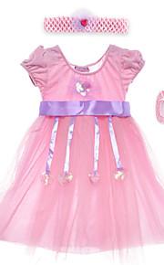 Performance Dresses Children's Performance Spandex / Polyester Sash/Ribbon / Sequins 2 Pieces Pink