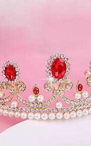 Donne Strass / Cristalli / Perle false Copricapo-Matrimonio / Occasioni speciali / All'aperto Tiare 1 pezzo