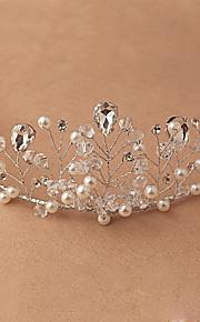 Donne Cristalli / Perle false Copricapo-Matrimonio / Occasioni speciali / All'aperto Tiare 1 pezzo