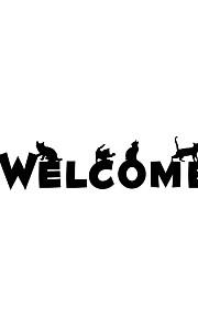 애니멀 / 크리스마스 / 카툰 / 워드&인용구(부호) / 로맨스 / 패션 / 휴일 / 풍경 / 모양 / 판타지 벽 스티커 플레인 월스티커 데코레이티브 월 스티커,PVC 자료 물 세탁 가능 / 이동가능 / 재부착가능 홈 장식 벽 데칼