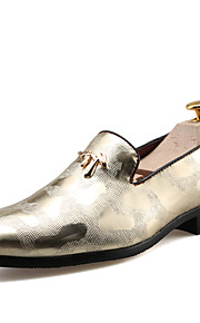 Men's Shoes Customized Materials Office & Career / Casual Oxfords Office & Career /Casual Chunky Black/Gold/Silver