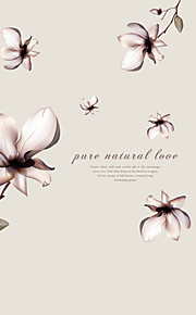 Fantasy Flowers Pure Natural Love Background Wall Art DIY Removable Fashion Living Room Wall Decals