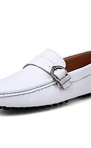 Men's Shoes Nappa Leather Party & Evening / Casual Flats Party & Evening / Casual Flat Heel Black / White