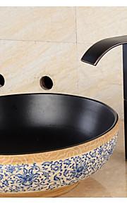 Moderne Basin Enkelt håndtag Et Hul in Olie-gnedet Bronze Håndvasken vandhane