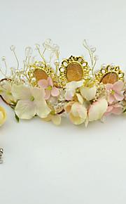 Women's Crystal / Imitation Pearl / Fabric Headpiece-Wedding / Special Occasion / Casual / Outdoor Tiaras 2 Pieces