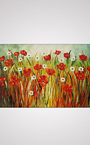 Hand Painted Canvas Oil Painting Flower Abstract with Stretched Framed