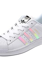 Adidas Круглый мыс / Кеды / Беговые кроссовки / Повседневная обувь Жен. Износостойкий Белый / ЧёрныйБег / Спорт в свободное время /